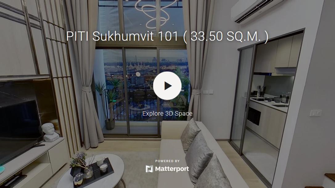 Virtual Tour 33.50 ตร.ม.